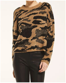 Rag Poets Women's Bodrum Sweater , Tan, hi-res