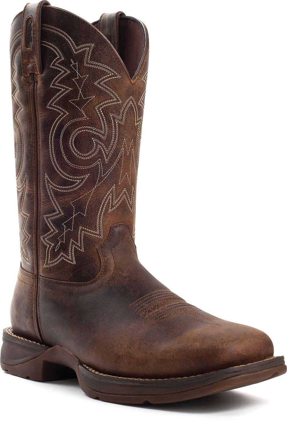 Durango Rebel Men's Brown Pull-On Western Boot - Square Toe, Brown, hi-res