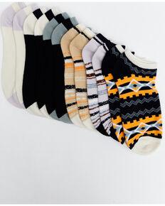 Shyanne Women's No Show Aztec Socks - 6 Pack, Multi, hi-res