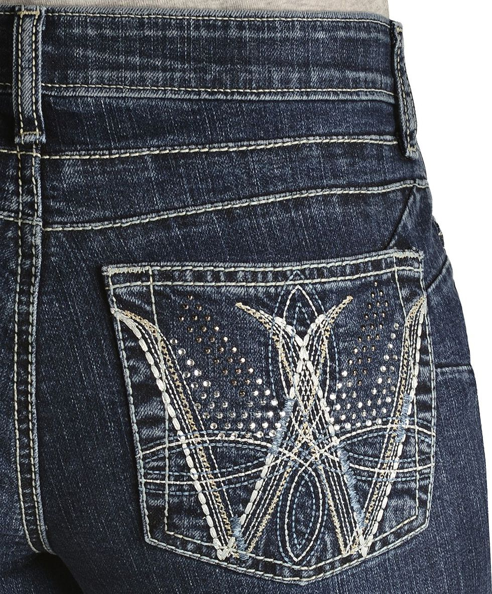 Wrangler Women's Cowgirl Cut Booty Up Ultimate Riding Q-Baby Jeans, Denim, hi-res
