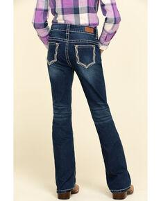 Shyanne Big Girls' Dark Bling Chandler Bootcut Jeans , Blue, hi-res