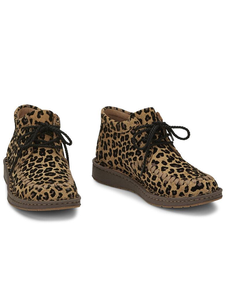 Justin Women's Sierra Leopard Boots - Round Toe, Leopard, hi-res