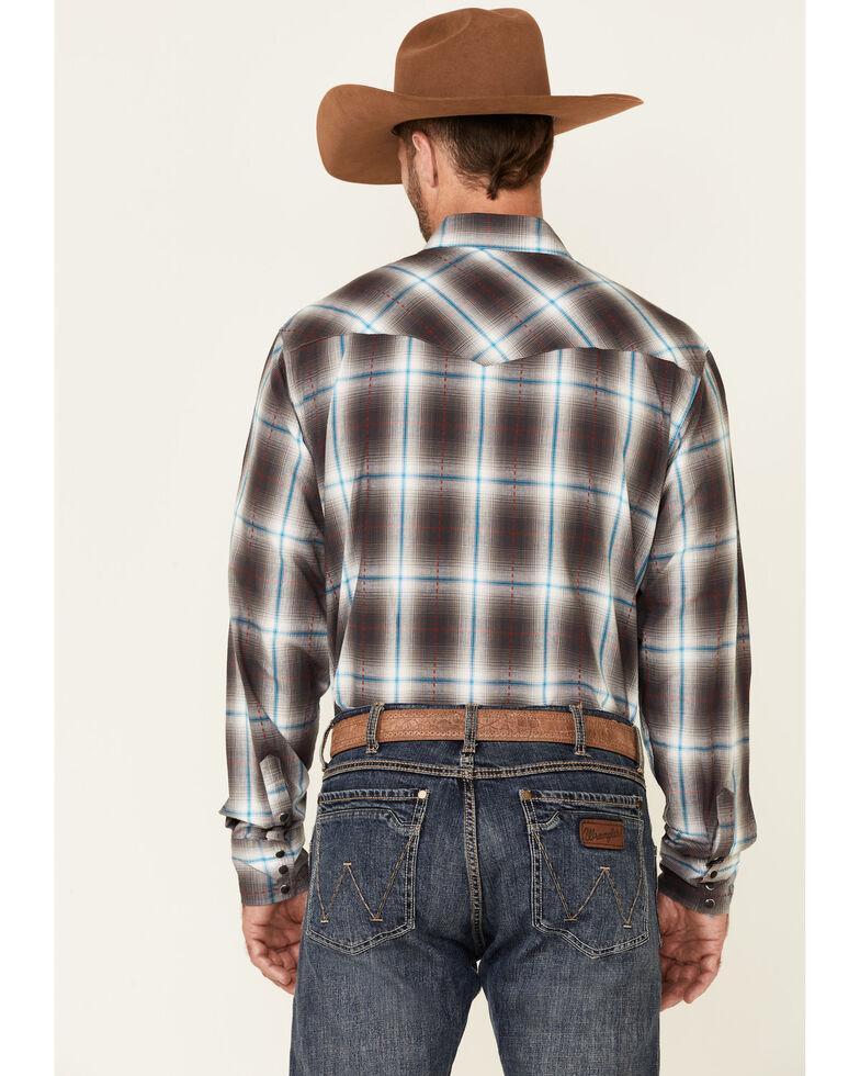Roper Men's Cinder Large Plaid Long Sleeve Snap Western Shirt , Blue, hi-res
