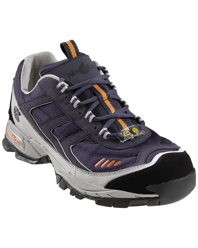 Nautilus Women's Blue ESD Athletic Work Shoes - Steel Toe, Blue, hi-res