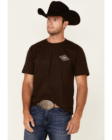 Cowboy Hardware Men's Brown Quality Barb Wire Graphic Short Sleeve T-Shirt , Brown, hi-res