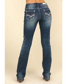 Rock & Roll Denim Women's Medium Boyfriend Straight Leg Jeans , Blue, hi-res