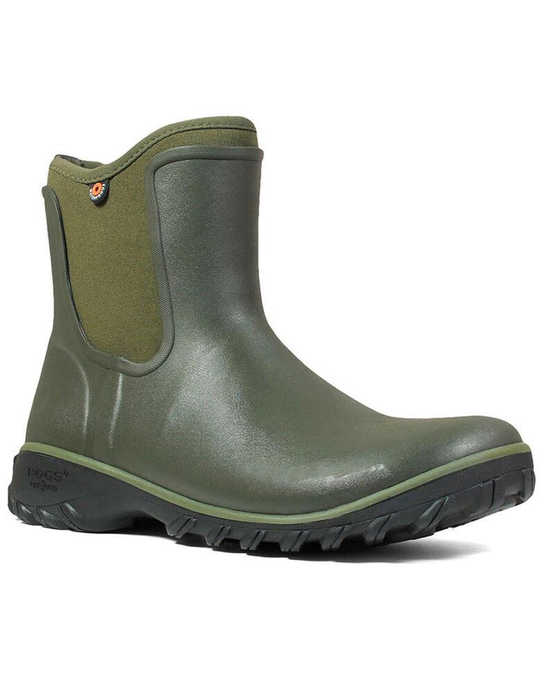 Bogs Women's Sauvie Waterproof Boots - Round Toe, Sage, hi-res
