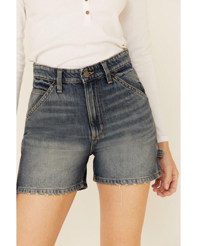 Lee Women's Dungaree Shorts, Blue, hi-res