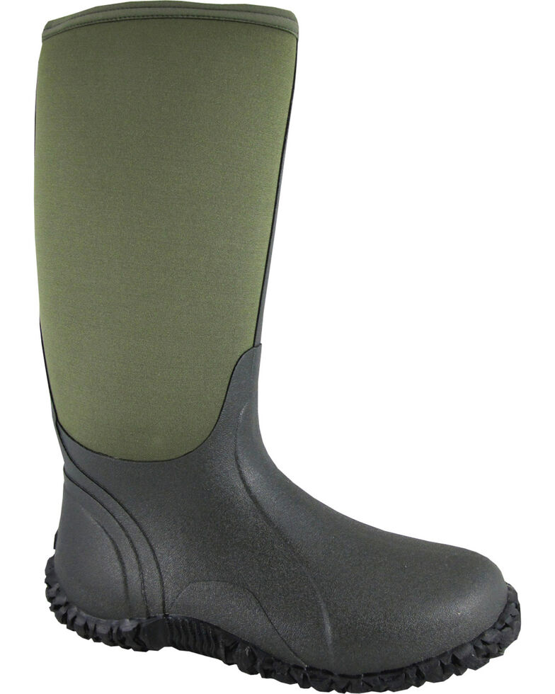 Smoky Mountain Men's Green Amphibian Waterproof Work Boots, Green, hi-res