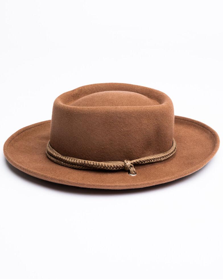 Shyanne Women's Wool Gambler Hat, Tan, hi-res