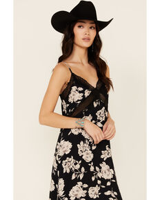 Band of Gypsies Women's Floral Marilyn Lace Dress, Black, hi-res