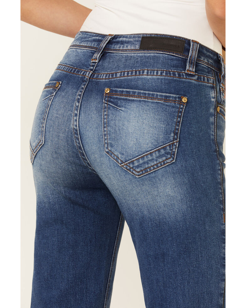 Rock & Roll Denim Women's Basic Trouser Jeans, Blue, hi-res