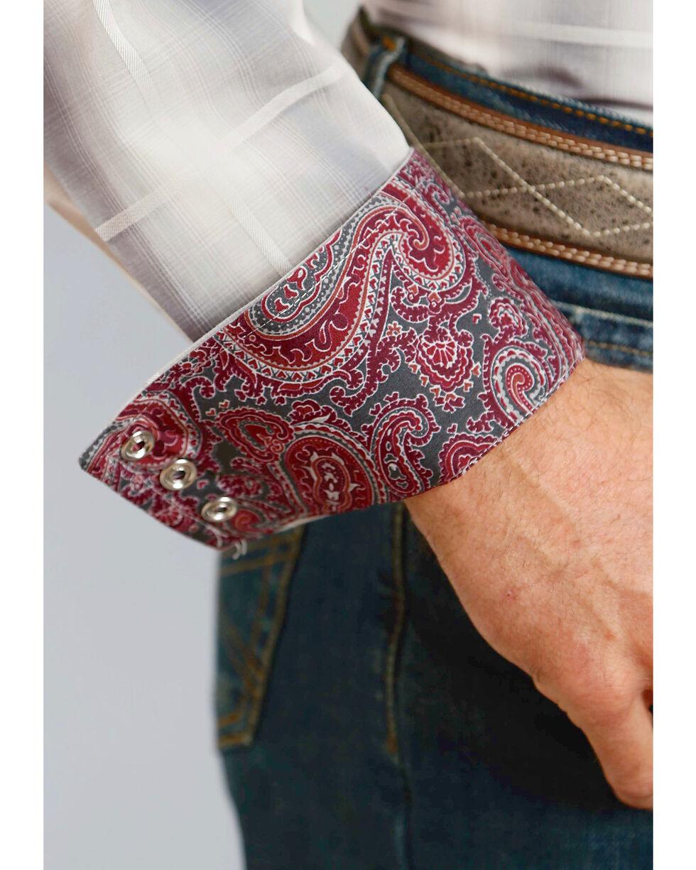 Stetson Men's Grey Plaid With Satin Stitch Long Sleeve Snap Shirt, Grey, hi-res