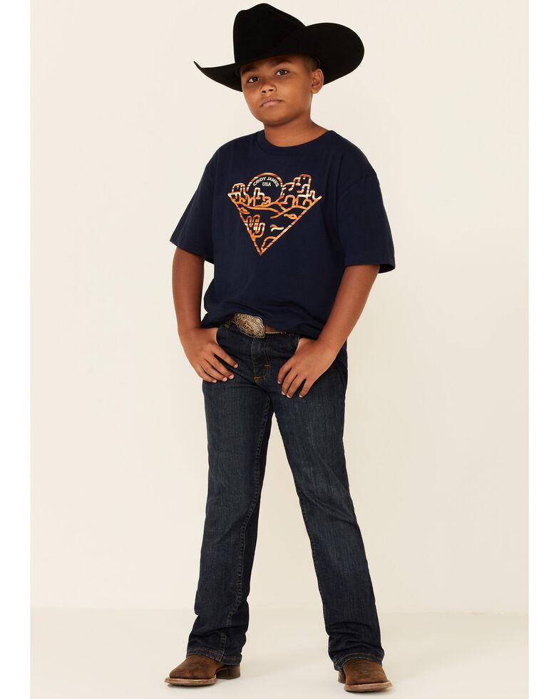 Cody James Boys' Navy Triangle Desert Graphic Short Sleeve T-Shirt  , Navy, hi-res