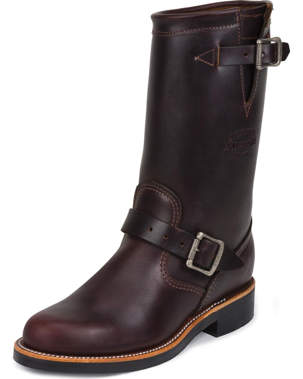 "Chippewa Women's Cognac 11"" Engineer Boots - Round Toe, Cognac, hi-res"