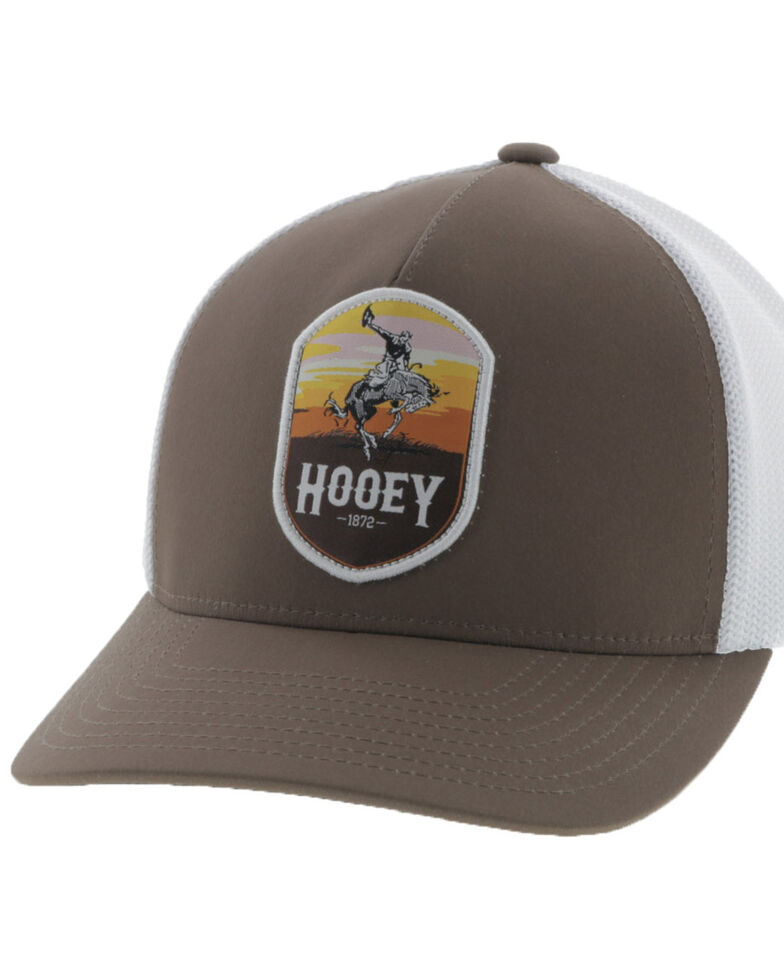 Hooey Men's Tan Cheyenne Shield Patch Mesh Ball Cap, Tan, hi-res