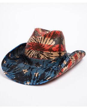Cody James Men's Kahuna Tie Dye Flag Hat , Red/white/blue, hi-res