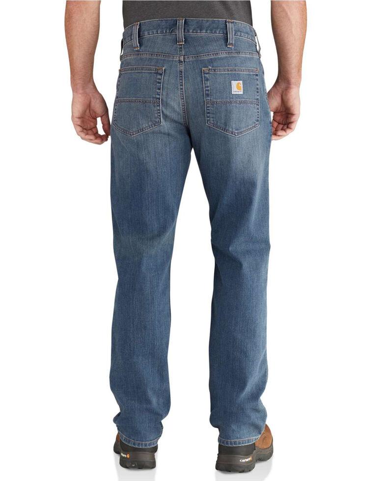 Carhartt Men's Blue Rugged Flex Relaxed Straight Work Jeans, Blue, hi-res