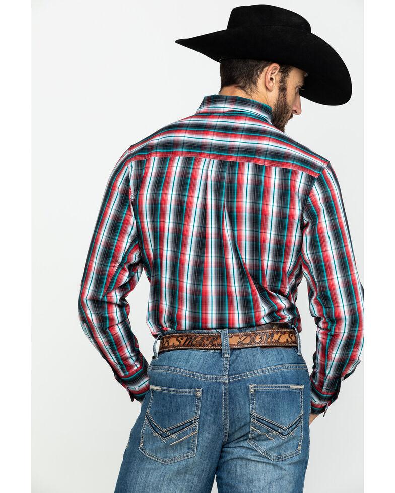 Wrangler 20X Men's Performance Multi Plaid Long Sleeve Western Shirt , Black/red, hi-res