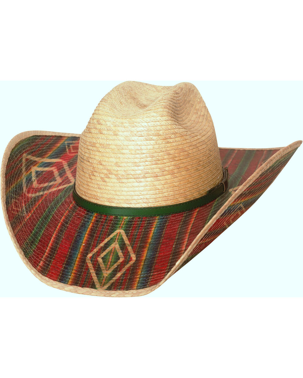 Bullhide Southwestern Energy 20X Palm Leaf Cowboy Hat , Natural, hi-res