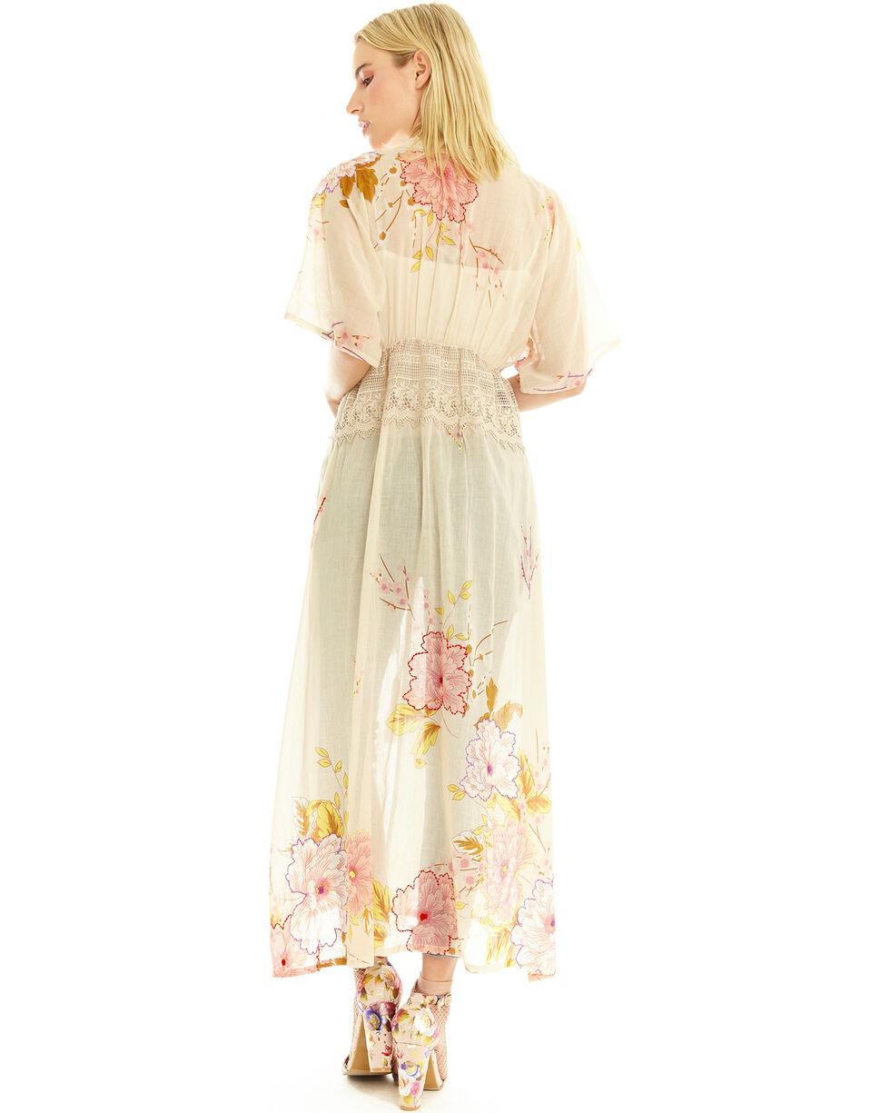 Aratta Women's Still Cool Maxi Kimono, Ivory, hi-res