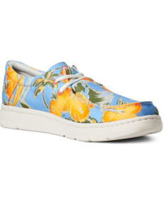 Ariat Men's Hilo Hula Casual Shoes - Moc Toe, Blue, hi-res