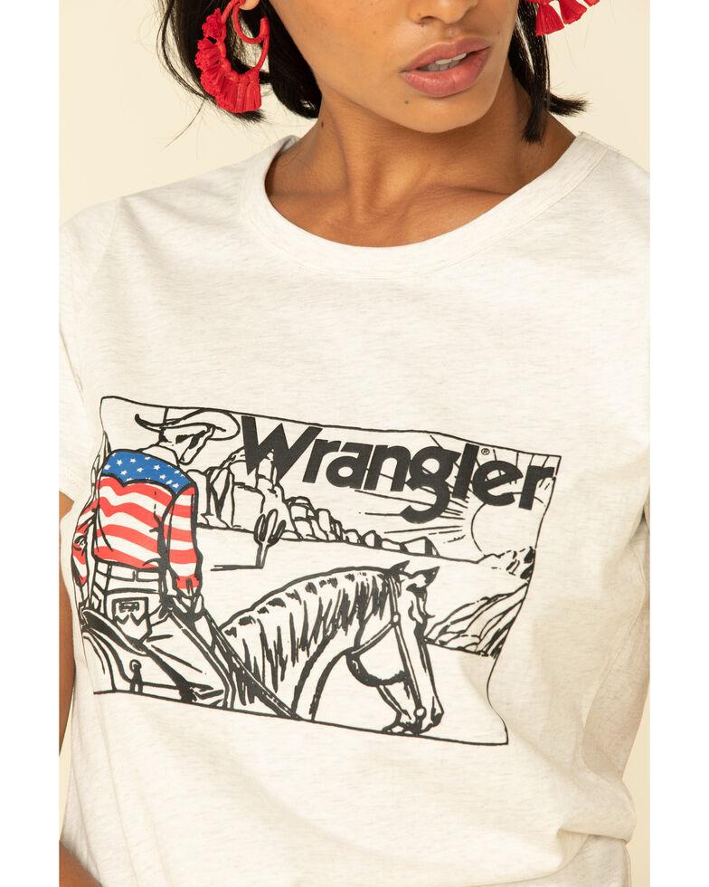 Wrangler Women's Oatmeal American Cowboy Graphic Tee, Oatmeal, hi-res