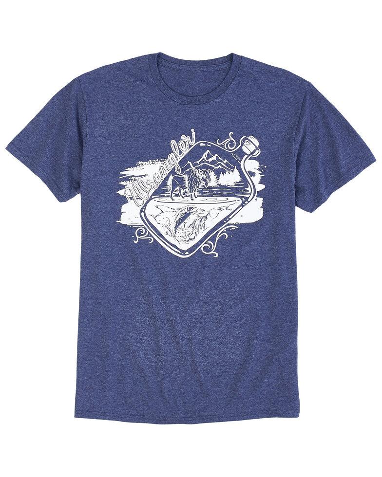 Wrangler Men's Denim Heather Drink It In Graphic T-Shirt , Blue, hi-res