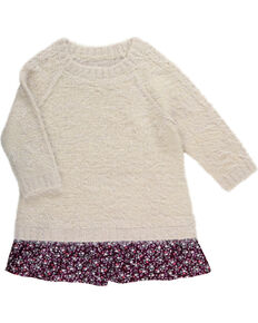 Shyanne Girls' Eyelash Sweater, Oatmeal, hi-res