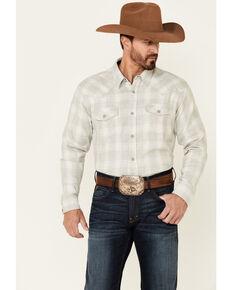 Cody James Men's Willow Ombre Plaid Long Sleeve Snap Western Shirt, Tan, hi-res