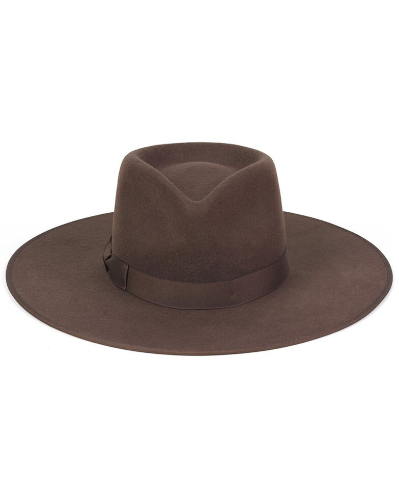 Lack Of Color Women's Coco Rancher Western Wool Fedora Hat , Dark Brown, hi-res