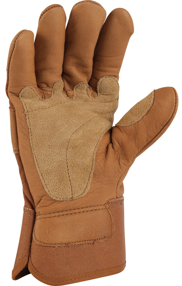 Carhartt Grain Leather Work Gloves, Brown, hi-res