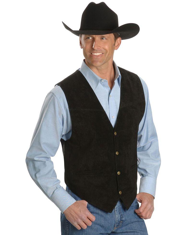 Scully Suede Leather Vest, Black, hi-res