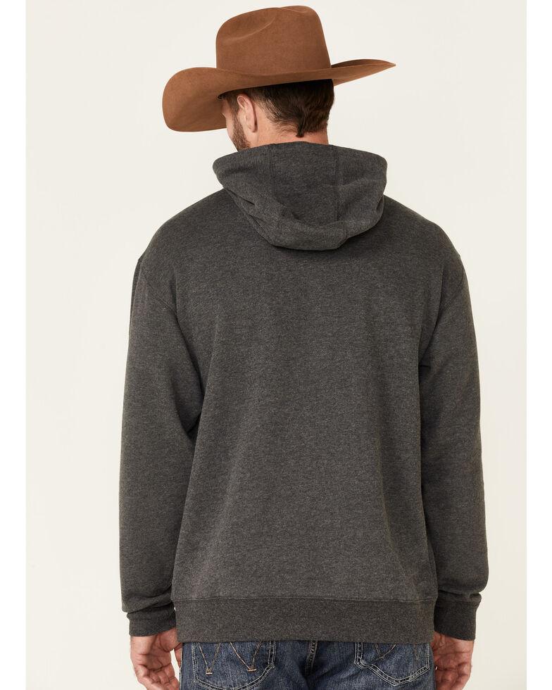 Ariat Men's Charcoal Sleeve Logo Pullover Hooded Sweatshirt , Charcoal, hi-res