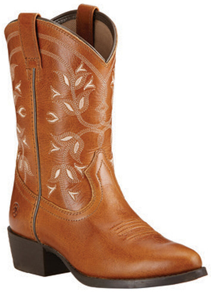 Ariat Youth Girls' Desert Holly Cowgirl Boots - Round Toe, Brown, hi-res