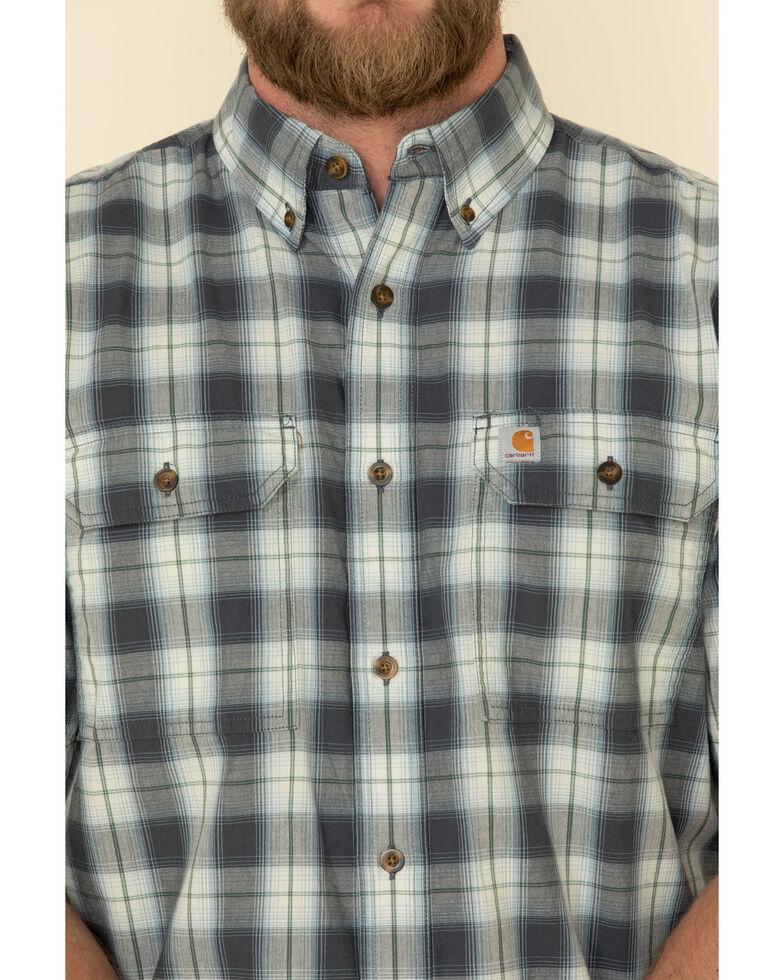 Carhartt Men's Blue Plaid Original Fit Midweight Short Sleeve Work Shirt , Blue, hi-res