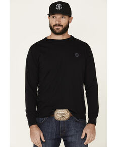 HOOey Men's Black Chief Graphic Long Sleeve T-Shirt , Black, hi-res