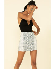 Free People Women's Modern Femme Snake Print Skirt, Multi, hi-res