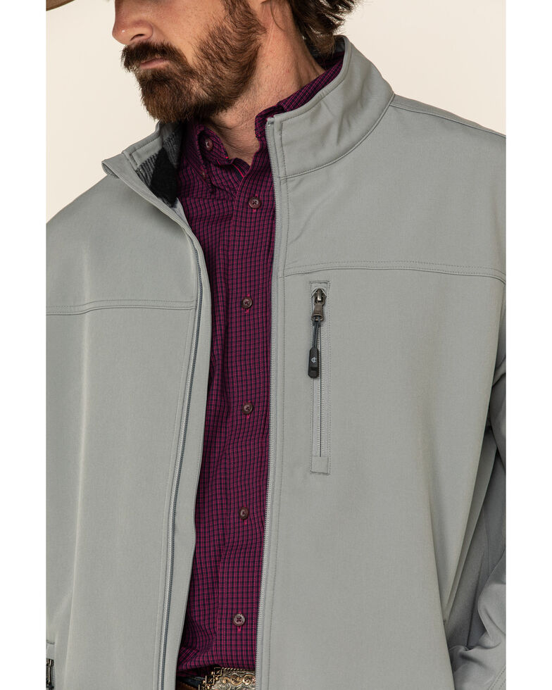 Cody James Core Men's Grey Embroidered Steamboat Softshell Bonded Jacket, Grey, hi-res
