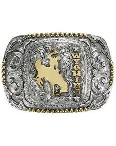 Cody James Men's Wyoming Regional Buckle, Silver, hi-res