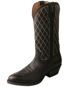 Twisted X Men's Black Western Boots - Round Toe, Black, hi-res