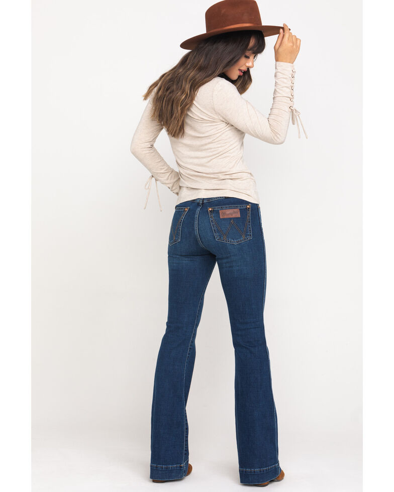 Wrangler Retro Women's Dark High Rise Clarita Trousers , , hi-res