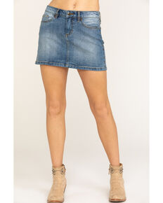 Idyllwind Women's Side Stud Stepper Skirt, Blue, hi-res