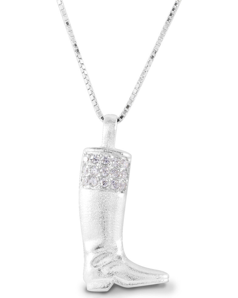 Kelly Herd Women's English Boot Necklace, Silver, hi-res