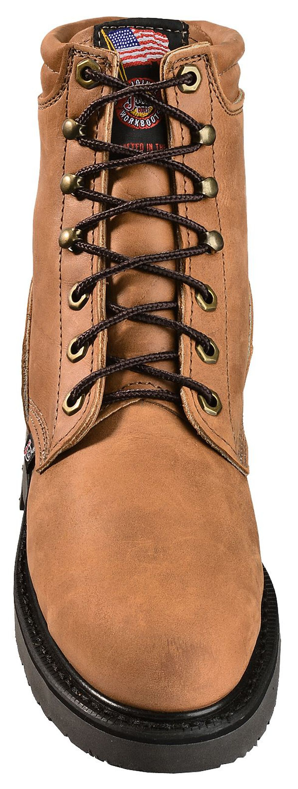"Justin Women's 6"" Dary Lace-up EH Work Boots - Steel Toe, Brown, hi-res"