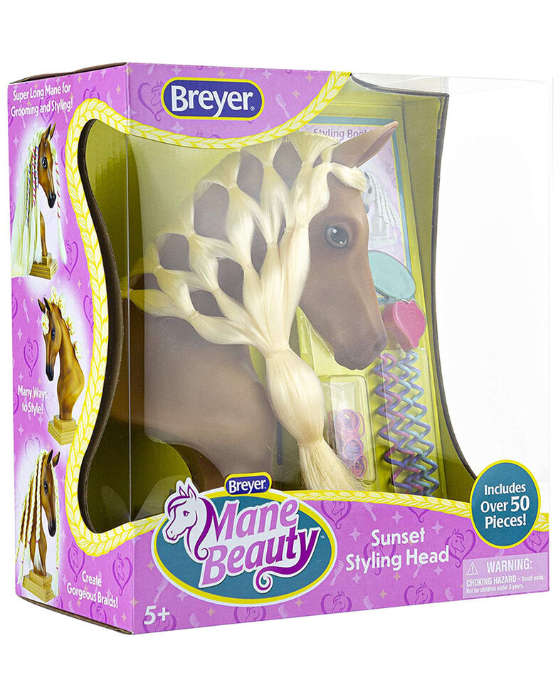 Breyer Girls' Mane Beauty Sunset Styling Head, No Color, hi-res