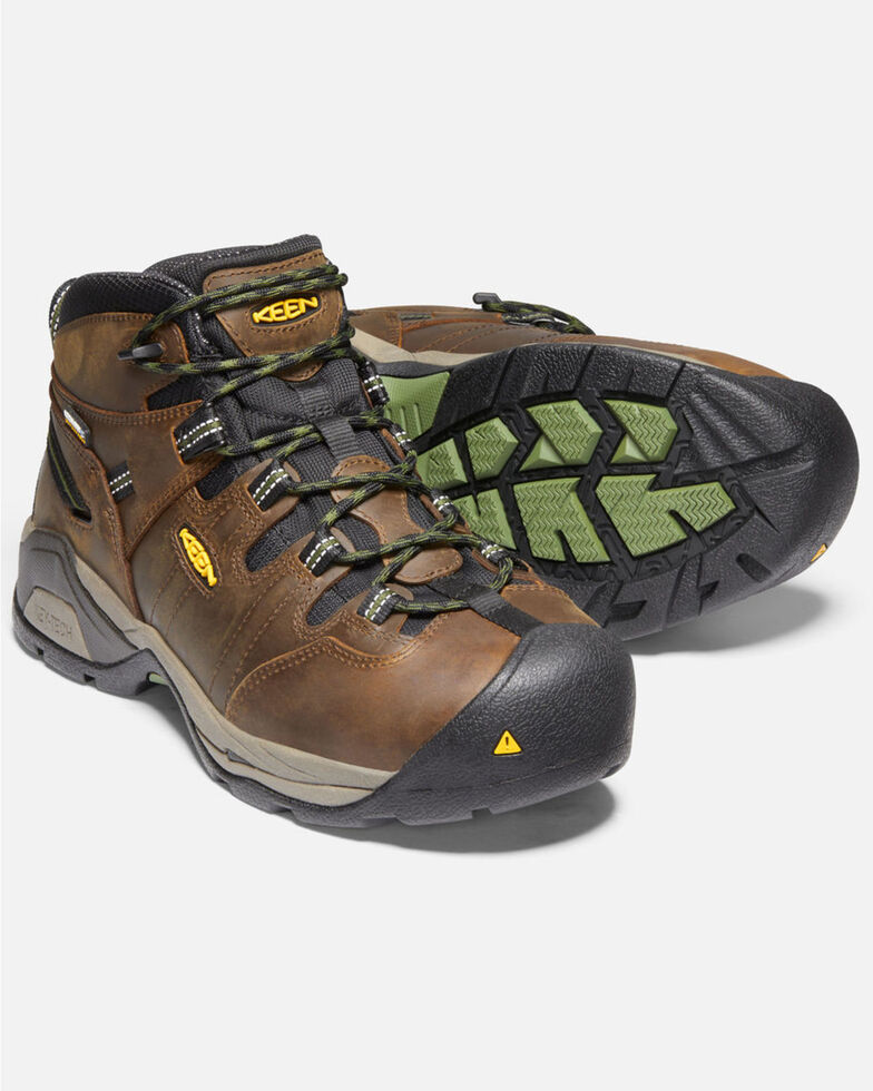 Keen Men's Detroit XT Waterproof Work Boots - Steel Toe, Brown, hi-res