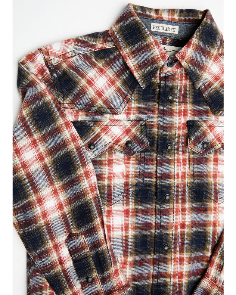 Cody James Toddler Boys' Spruce Plaid Long Sleeve Western Flannel Shirt , Black/red, hi-res