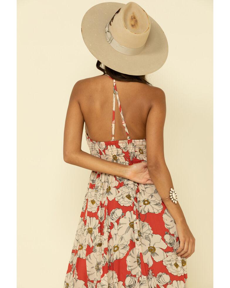 Free People Women's Sunset Heatwave Maxi Dress, Coral, hi-res