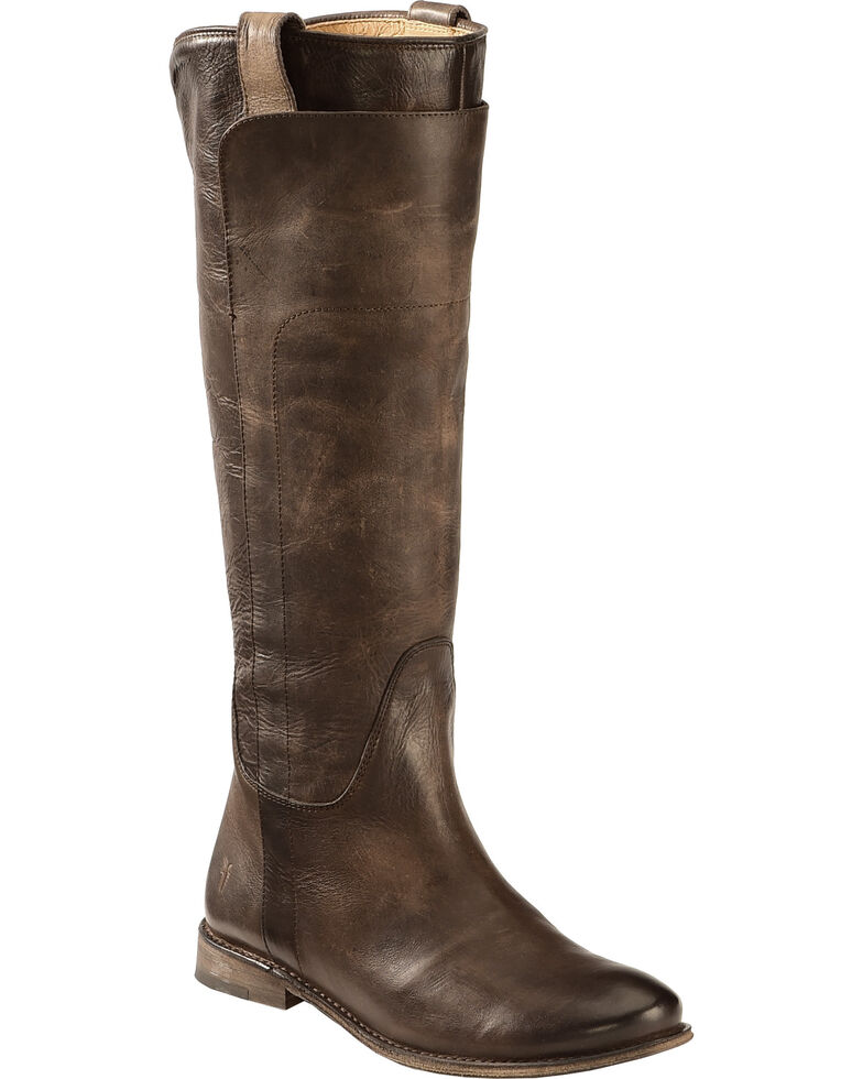 6eb0658ad4bb Frye Women s Slate Paige Tall Riding Boot - Round Toe - Country ...
